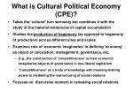 what is cultural political economy cpe