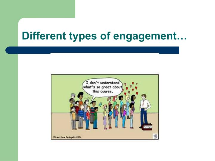 Different types of engagement…