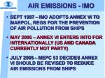 air emissions imo