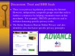 discussion trust and bbb seals