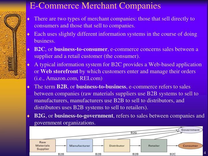 E-Commerce Merchant Companies