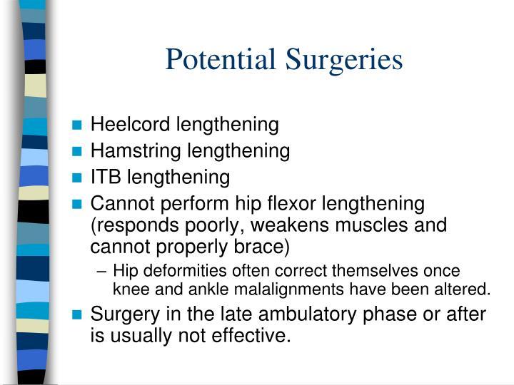 Potential Surgeries