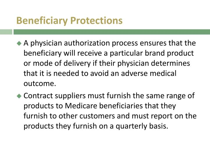 Beneficiary Protections