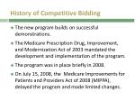 history of competitive bidding
