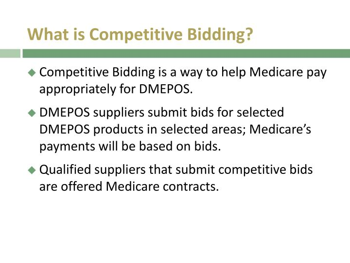 What is Competitive Bidding?