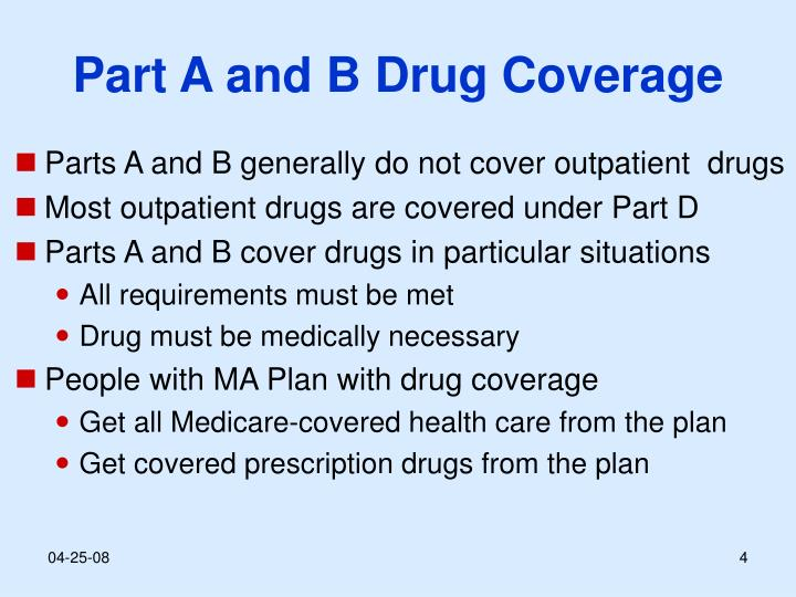 Part A and B Drug Coverage