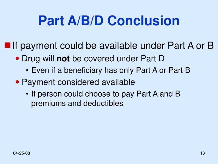 Part A/B/D Conclusion