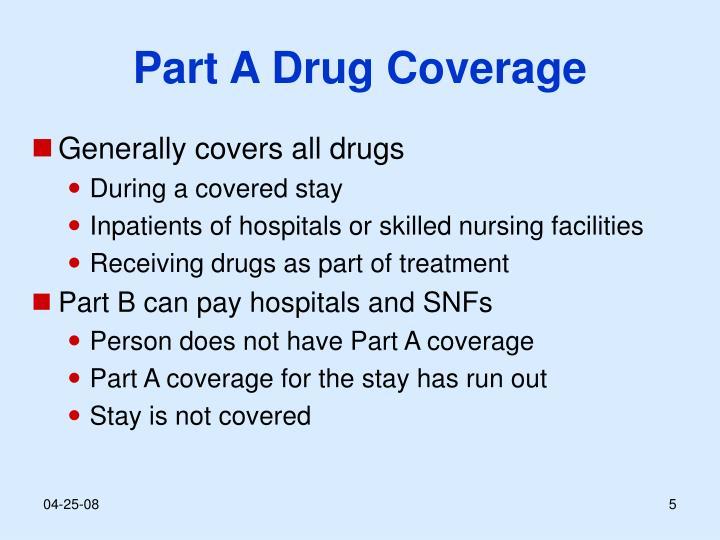Part A Drug Coverage