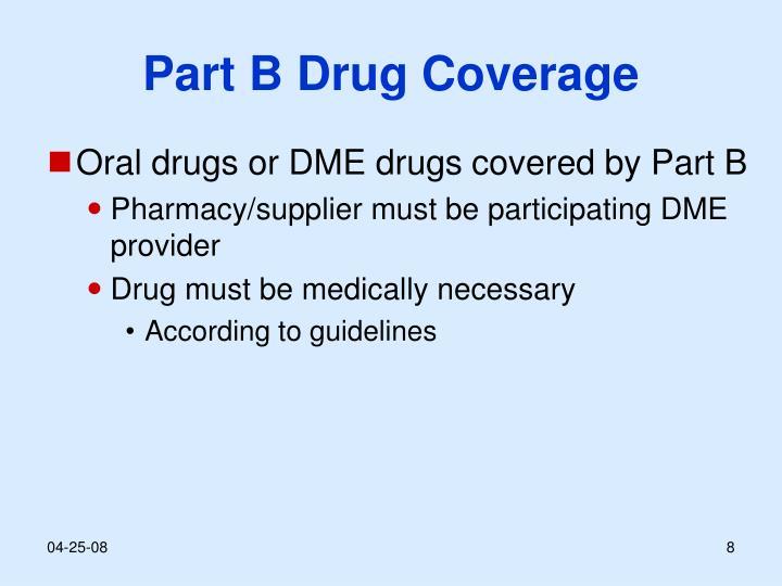 Part B Drug Coverage