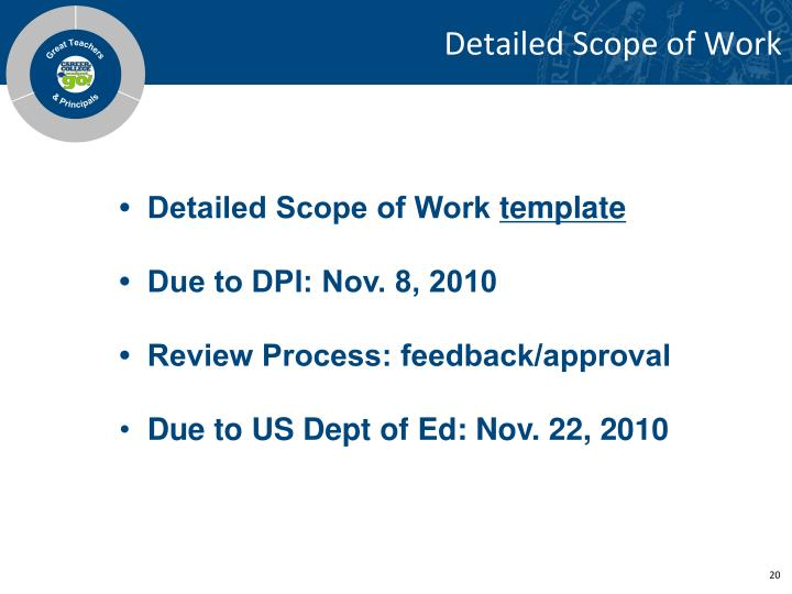 Detailed Scope of Work