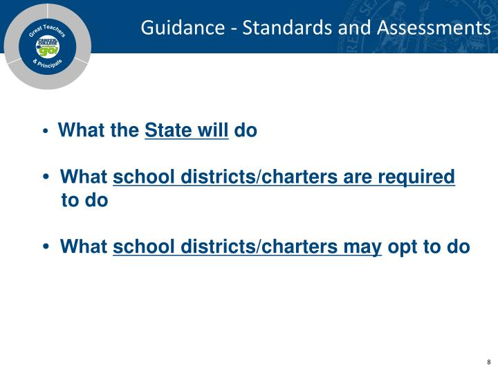Guidance - Standards and Assessments