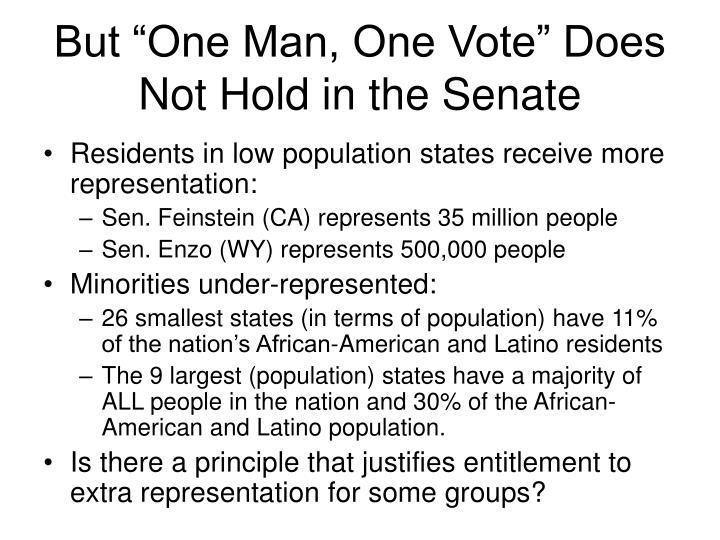 "But ""One Man, One Vote"" Does Not Hold in the Senate"