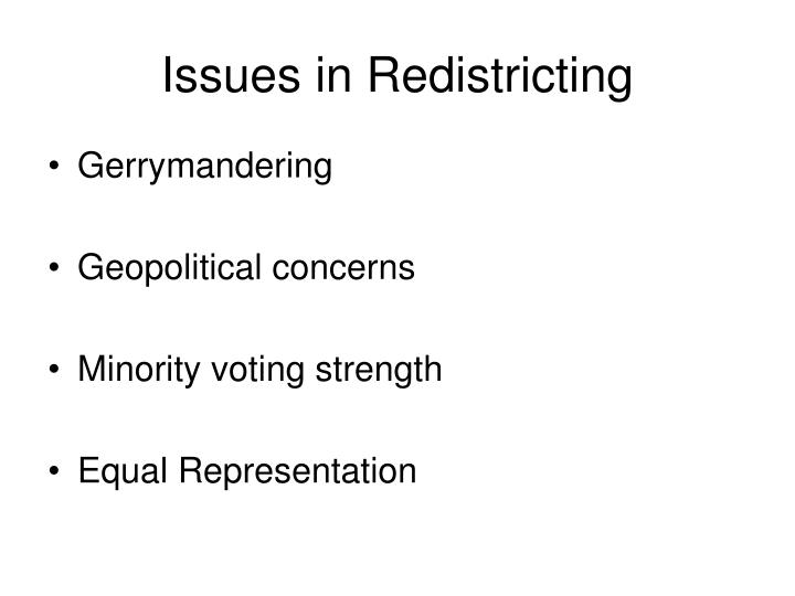 Issues in Redistricting