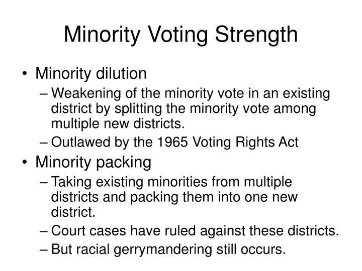 Minority Voting Strength