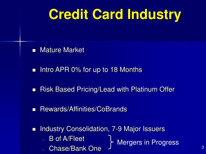 Credit card industry1