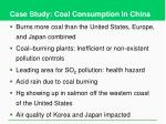 case study coal consumption in china