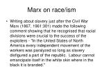 marx on race ism
