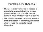 plural society theories