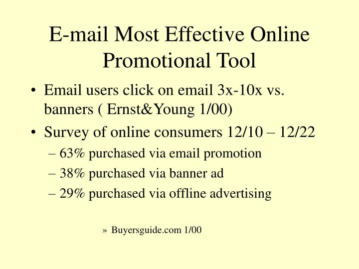 E-mail Most Effective Online