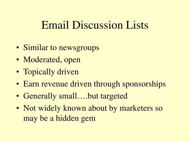 Email Discussion Lists