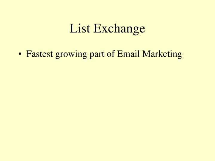 List Exchange