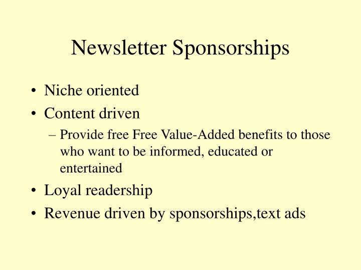 Newsletter Sponsorships