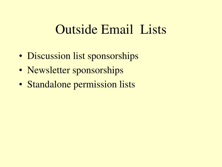 Outside Email  Lists