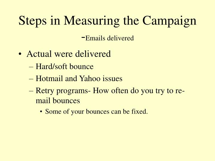 Steps in Measuring the Campaign