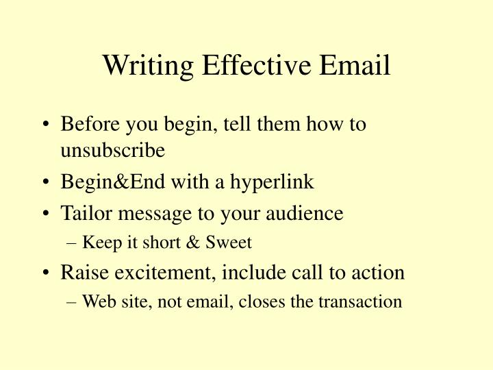 Writing Effective Email
