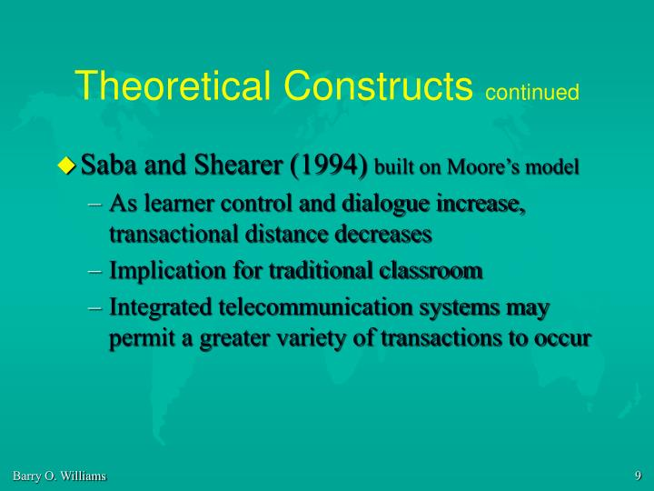 Theoretical Constructs