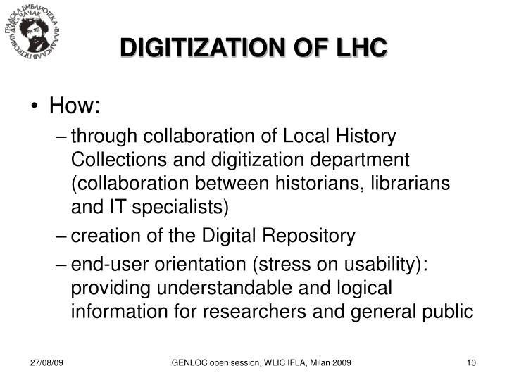 DIGITIZATION OF LHC