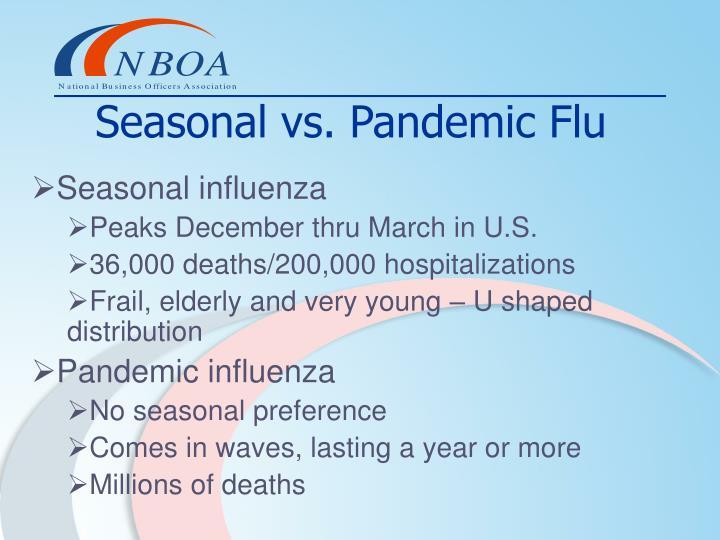 Seasonal vs. Pandemic Flu
