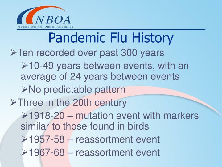 Pandemic Flu History