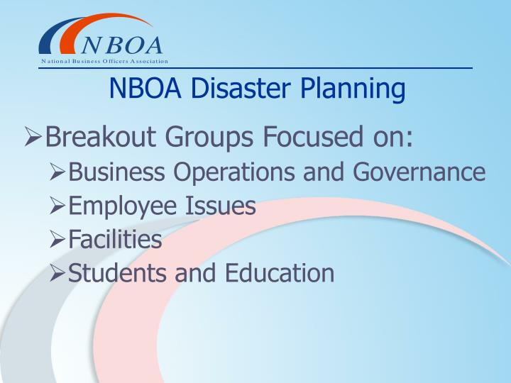 NBOA Disaster Planning