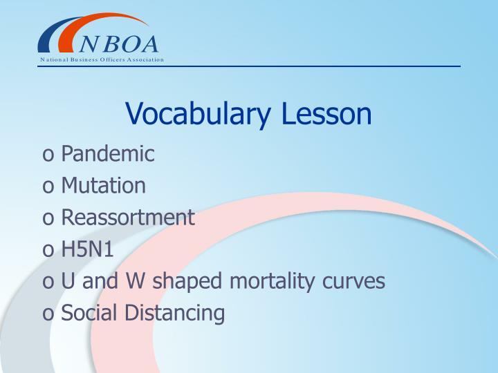 Vocabulary Lesson