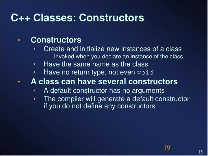 C++ Classes: Constructors