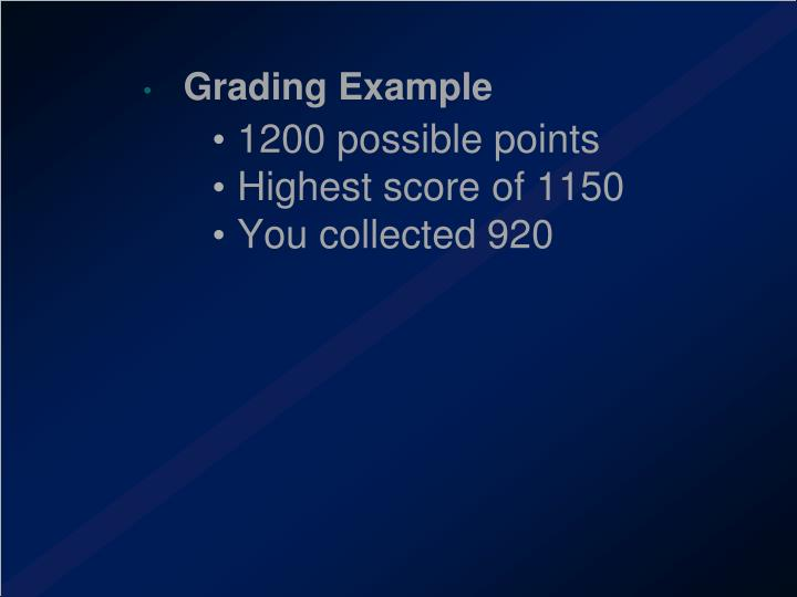Grading Example