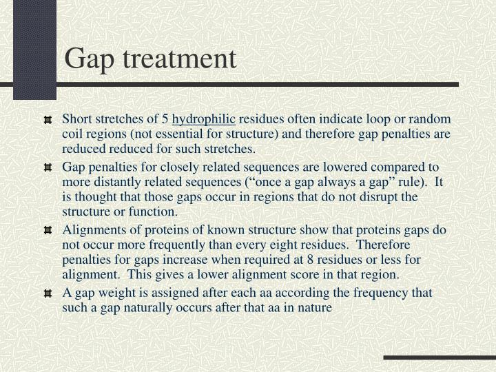 Gap treatment