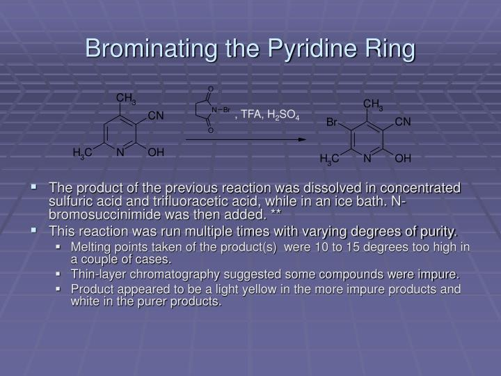 Brominating the Pyridine Ring