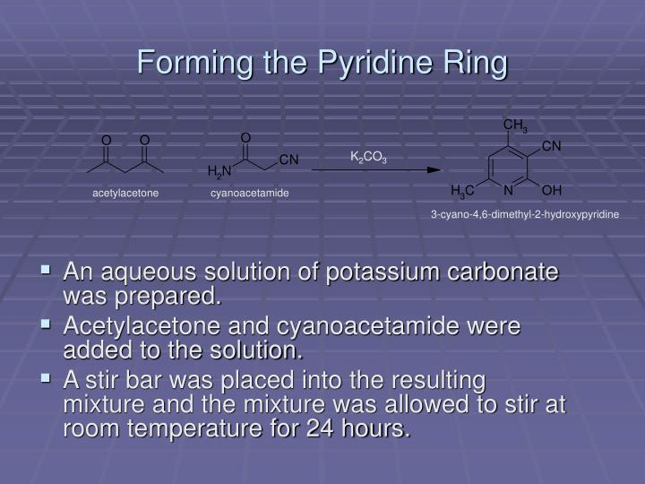 Forming the Pyridine Ring