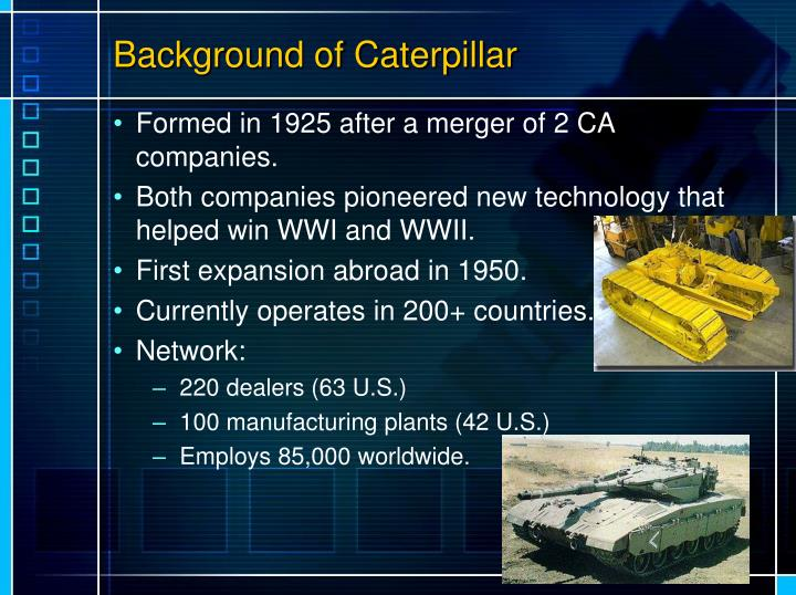Background of Caterpillar