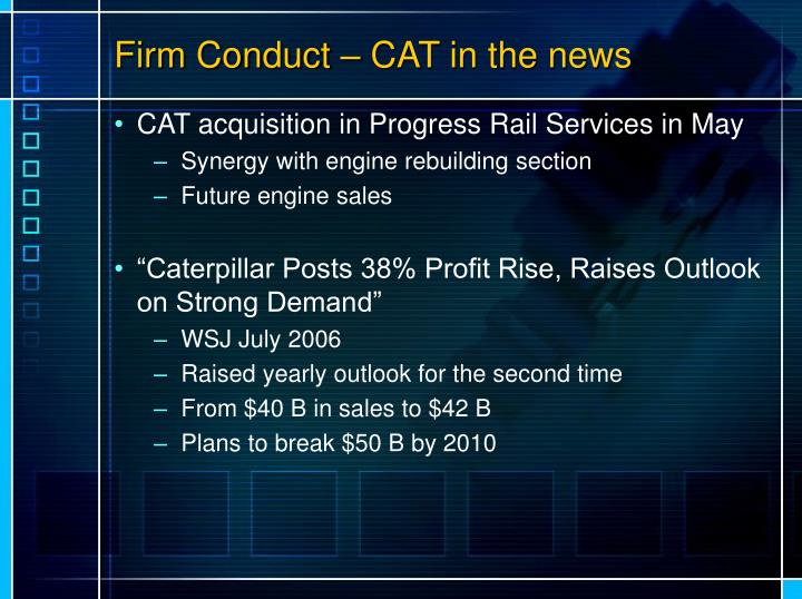 Firm Conduct – CAT in the news