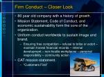 firm conduct closer look