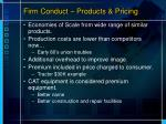 firm conduct products pricing