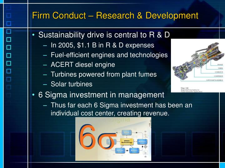 Firm Conduct – Research & Development