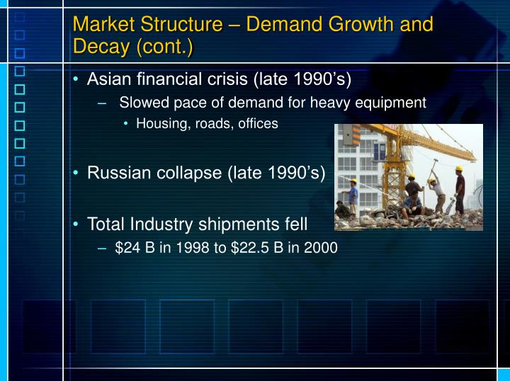 Market Structure – Demand Growth and Decay (cont.)