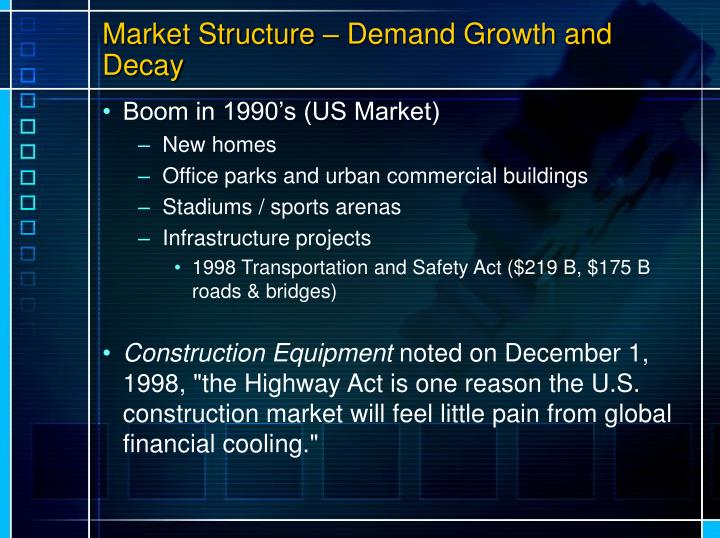 Market Structure – Demand Growth and Decay