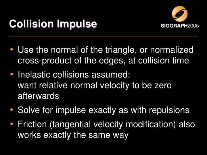Collision Impulse