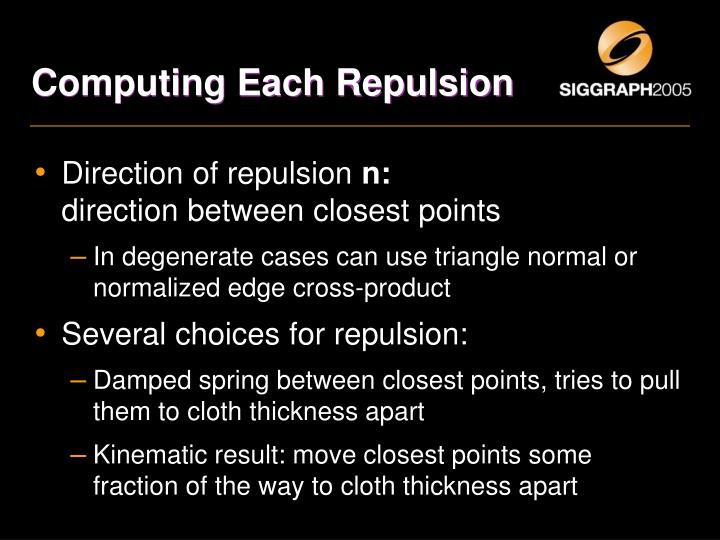 Computing Each Repulsion