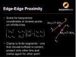 edge edge proximity